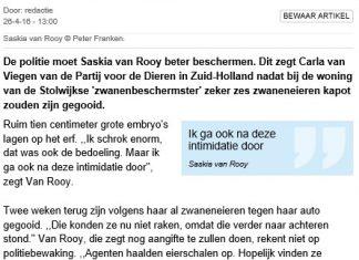 Patrij voor de Dieren - Van Rooy beter beschermen